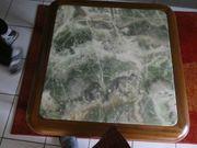 Beistelltisch Holz undJadeplatte