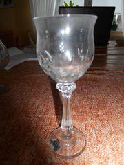 christal gläser wein cognak likör