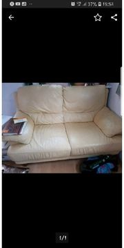 ledersofa Couch 3er