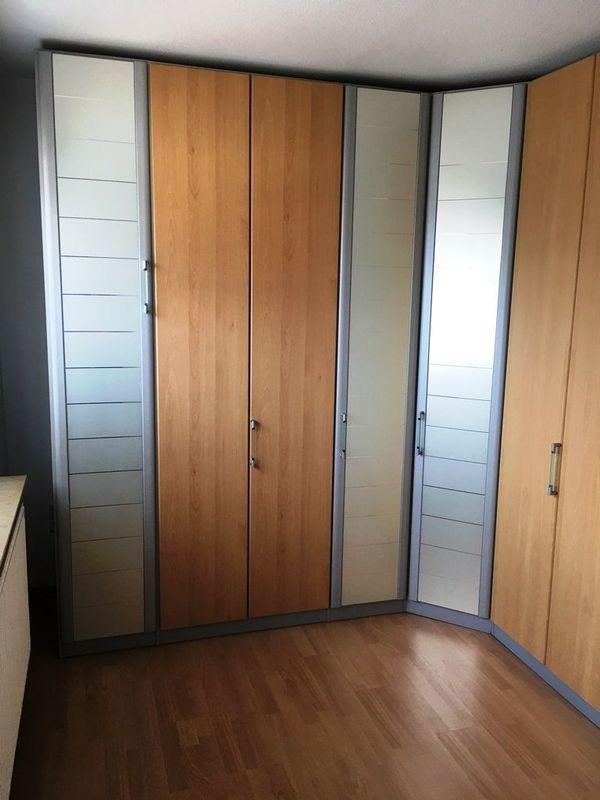 Nolte Kleiderschrank Eckausführung Raumhöhe 241cm gute Einteilung ...