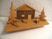 Landschaftsausschnitt aus Holz