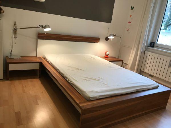 Hülsta Now! 7 Doppelbett 200x140 inkl Nachtkästchen & Lattenrost in ...