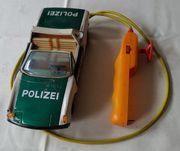 altes Blechspielzeug Polizeiauto