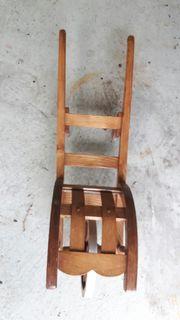 Deko-Schubkarre aus Holz handgefertigt für