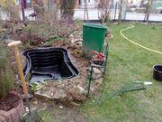 Teichanlage Gartenarbeiten