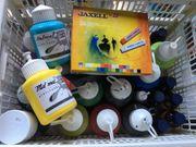 Acrylfarben Tusche und Kreide