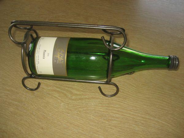 Flaschenhalter aus metall für weinflasche geschenk vintage deco in