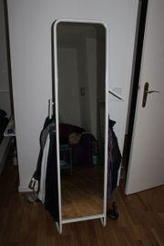 Weisser Stehspiegel Mit Platz Fur Kleidung IKEA