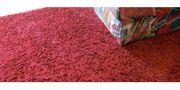 Weinroter Langflorteppich gebraucht - Wohnzimmerteppich Schlafzimmerteppich