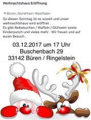 Große Weihnachtshaus Eröffnung