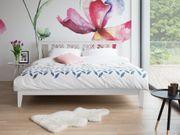 Holzbett weiss Lattenrost 160 x