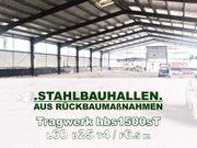 Feuerverzinkte Stahlhalle 60x25x4 6 5m