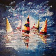 Gemälde auf Leinwand Acryl 100x100cm