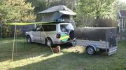 Dachzelt mit Campingkiste