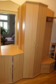 Garderoben Kombination kompakt 5-tgl Buche