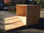 Wetterfeste Holzkiste zu verkaufen