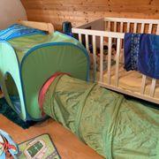 Krabbeltunnel mit Zelt zu verkaufen