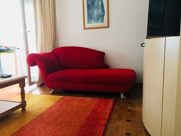 Bretz Recamiere Loulou Rot Lowenfusse In Ettlingen Polster Sessel