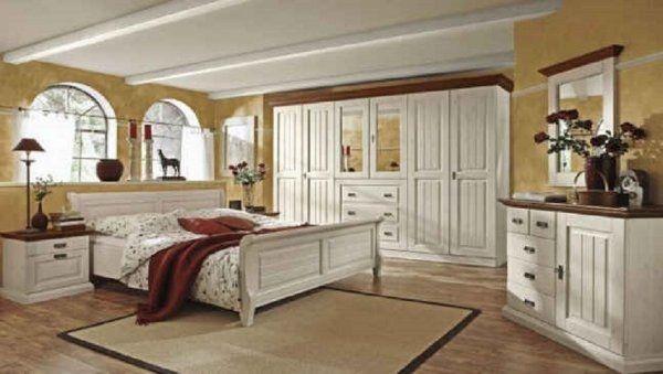 Schlafzimmer \'Malta Kiefer massiv weiß\' in Dresden - Schränke ...