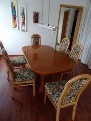 Esstisch ausziehbar mit 8 Stühlen