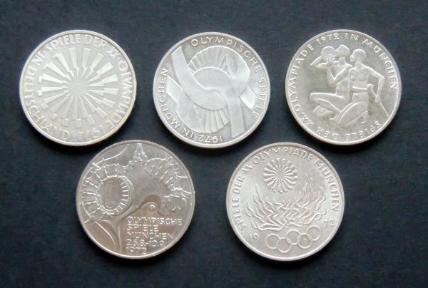 10 Dm Silber Münzen Olympiade Deutschland 1972 Oder österreich 1976