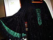 Mittelalter Kleid mit Schnürung Trompetenärmeln