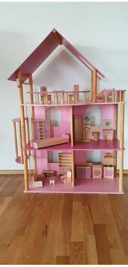 Barbie-Haus handgefertigt aus Holz