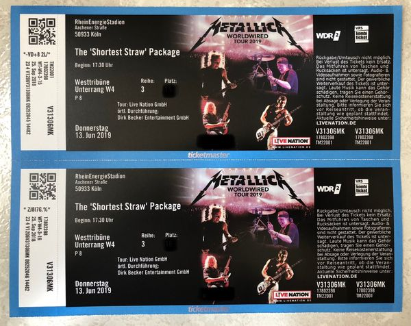 Metallica Köln 13 06 2019