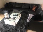 Echtleder Couch schwarz -