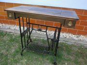 Nähmaschinentisch Nähmaschinengestell mit Schieber antik