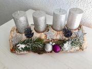 Adventskranz aus Birkenholz