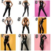 sexy Wetlook Catsuits Ovetalls Gr