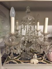 Tischleuchter Glaskristall