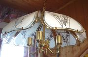 Große alte Hänge-Lampe 4 flammig