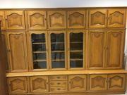 Antiker Wohnzimmerschrank Massivholz