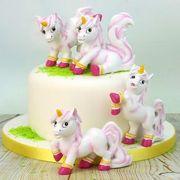Einhorn Kuchenverzierung und cupcake dekorieren