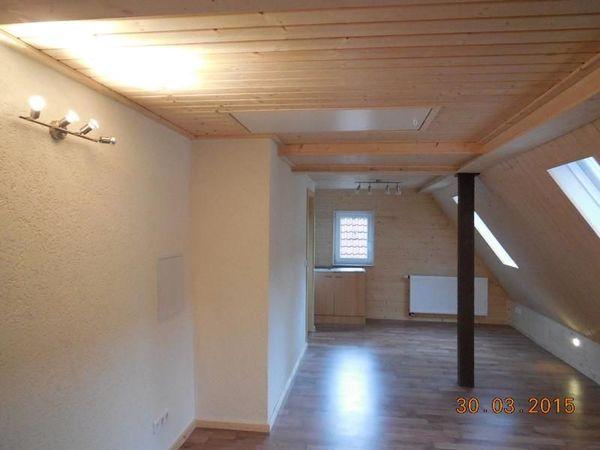 Dachgeschosswohnung in Bad » Vermietung 1-Zimmer-Wohnungen