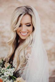 Schleier Braut Hochzeit Spitze Creme