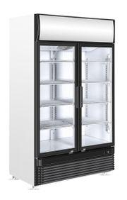 Glastürkühlschrank mit 2
