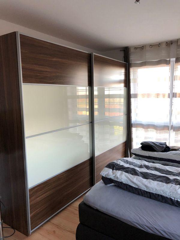 Hochwertiges Schlafzimmer Komplett Kleiderschrank Nachtische