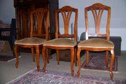 3 Esszimmer- Wohnzimmer-Stühle aus Kirschbaumholz