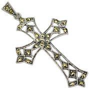 Silberkette 925 mit Kreuzanhänger mit