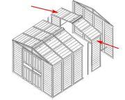 Erweiterungsset für das Metallgerätehaus Tepro