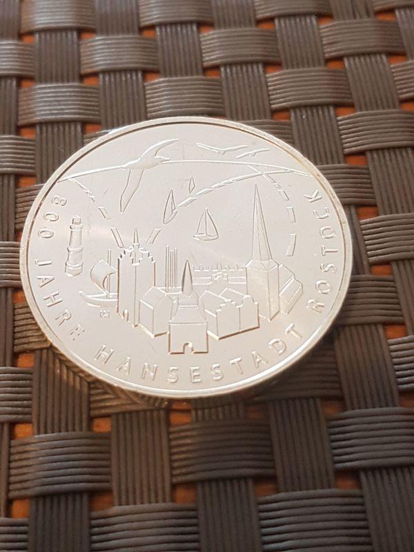 20 Euro Gedenkmünze J 800 Jahre Hansestadt Rostock 2018 Neu In