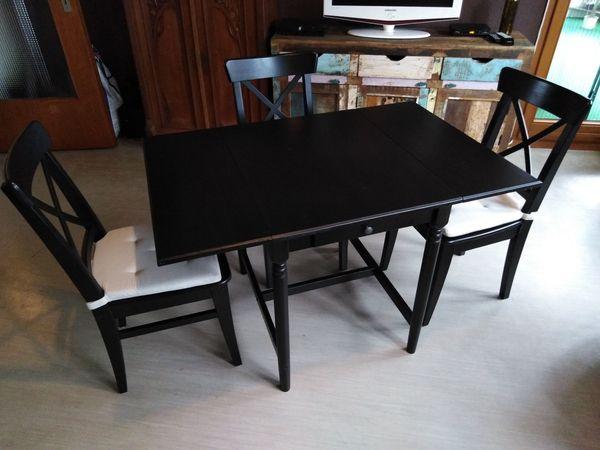 Ikea Esszimmer Garnitur Ingatorp Incl 3x Ingolf Stuhlen Gepfl In