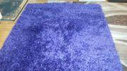 Teppich Hochflor Violett