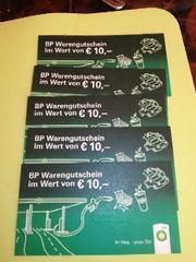 50 Euro BP Tank Gutscheine