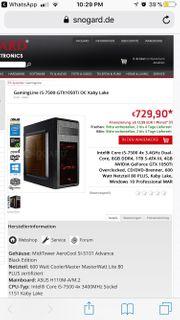 Gaming PC Intel i5-7500 Quadcore