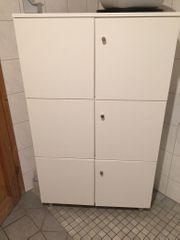 Badezimmerschrank weiß 3 Doppeltüren