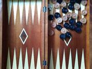 Backgammon Holz edel mit Spielsteinen